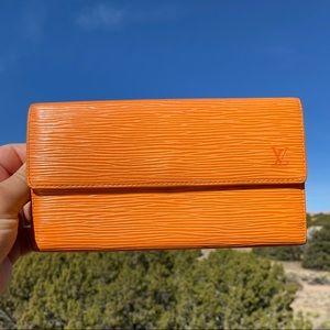 Louis Vuitton epi orange wallet